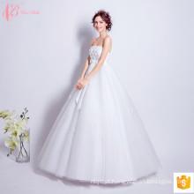 2017 Vestidos de noiva de noiva com biquíni de biquíni de luxo feitos na China fora do ombro