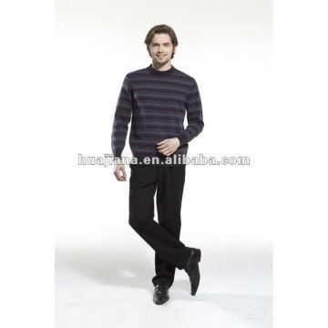 Camisola formal de cachemira masculina elegante em volta do pescoço