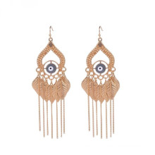 Fashion Indian Evil Eye Gold Tassels Earring