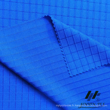 Poly Span Knit Dobby Check Fabric (# UKT25832)