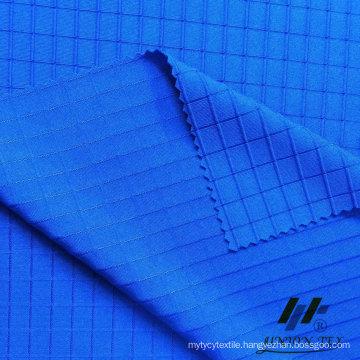 Poly Span Knit Dobby Check Fabric (#UKT25832)
