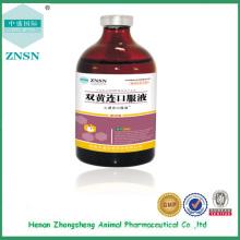 Líquido oral de Shuanghuanglian, tratamento de alta qualidade de drogas veterinárias da gripe