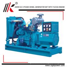 De-China 200kw / 250KVA Para que EL-Generadordiesel mit YC6M350L-D20 generador de motor precio dinamo