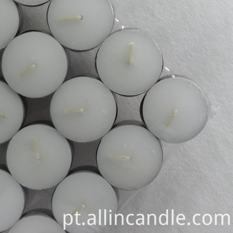 white clear Tealight Candle