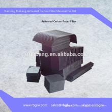 утилизация газа материал активированный бумажный фильтр углерода