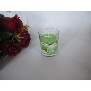 Long Burning Apple vela de vidro perfumado