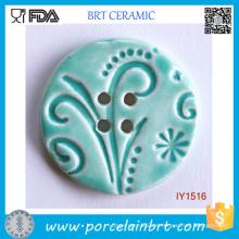 Botones decorativos de costura de cerámica Reseda
