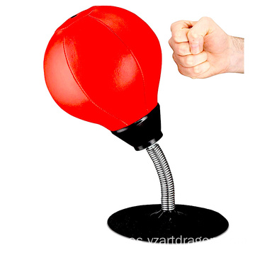 Relief Fighting Speed Reflex Training Pu Desktop Punching Ball Boxing, Spinning Bar Boxing Speed Ball