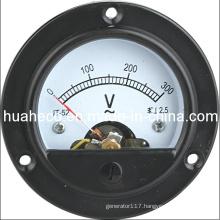 Round Voltage Meter