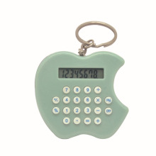 Apple Shape 8 Digits Kids Love Calculator with Key Ring