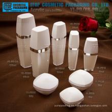 Especial recomendada buena calidad 1er grado prima cristal puro capas dobles acrílico plástico reciclado envases cosméticos