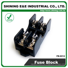 FB-6012 6x30mm Glass Sicherung 600V 15A 2 Wege Panel montiert Sicherungshalter