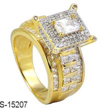 18k позолоченный Серебряный ювелирных изделий кольцо с бриллиантом