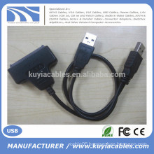 """High Speed Sata to USB Converter Cable USB 2.0 to sata 15+7 pin connector for 2.5"""" hard disk"""