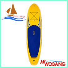 Prancha de surfe inflável, longboard com ponto de queda e EVA antiderrapante