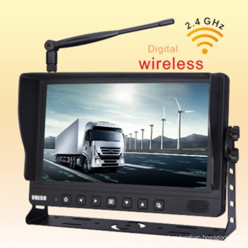Rear View Camera with Wireless Backup Camera Video Monitor Grain Cart, Horse Trailer, Livestock, Tractor, Combine, RV - Universal, Waterproof, up to 4 Camera