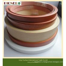 Горячей продажи ПВХ Кромкооблицовочный с сплошной Цвет/деревянное зерно