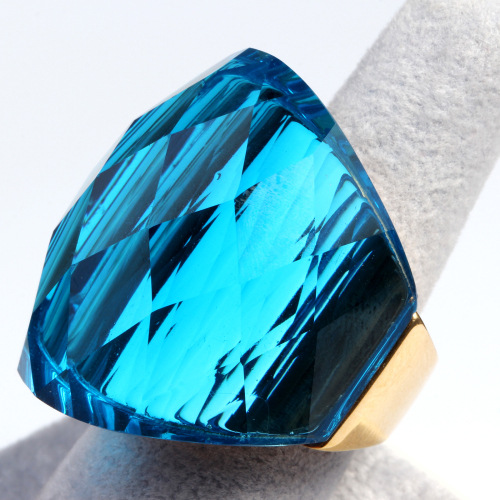Large Blue Crystal Ring