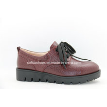 Comfort Low Heel Women Casual Chaussures en cuir