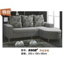 Sofá moderno da tela de grande dimensão de pequenas vendas (890B)