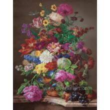 Pintado à mão pintura impressionista clássica da flor
