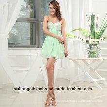 Perlée de coton une ligne robes de bal en mousseline de soie chérie robe de bal