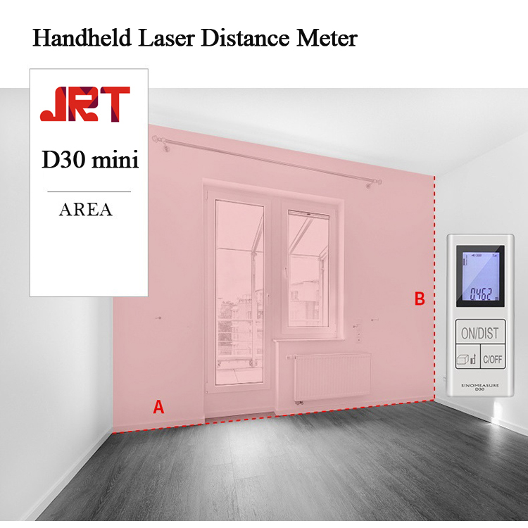 Mini Handheld Laser Distance Meter Area Measure