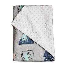 2021 newborns 100% organic cotton sheep muslin knitted printed blanket for baby blanket