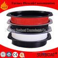 Torréfacteur Sunboat émail avec couvercle Turquie torréfacteur vaisselle / appareil de cuisine
