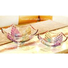 Bacia de fruto do vidro de cristal do projeto moderno para a decoração home