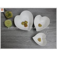 Tigela de sopa de porcelana em forma de coração