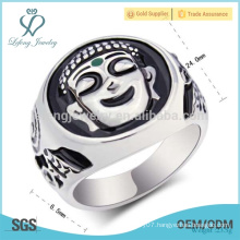 Wholesale jewelry 316l stainless steel ring,black agate ring engagement