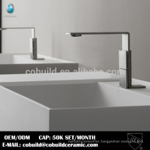 China factory sanitary 304 stainless steel satin surface bathroom faucet for basin