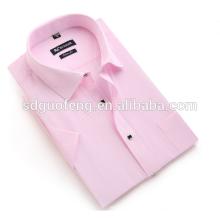 Дешевые 190г хлопковой ткани тоннеля воротник чистый хлопок белые рубашки для мужчин