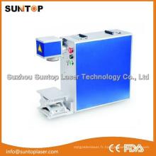 Machine de marquage au laser à fibre optique avec machine à imprimer colorée MW / Mopa Fiber Laser de 20W