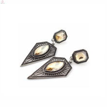 Fashion wholesale triangle geometric model spain 925 silver earrings jewellery