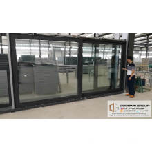 Super wide lift sliding door solid oak with exterior aluminum cladding sliding door system from China brand