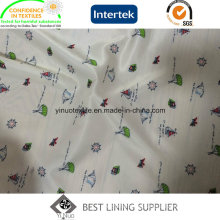 100 Polyester Women′s Jacket Coat Printed Lining Fabric Patterns