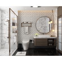Brass Mixed Calacatta Gold Marble Waterjet Mosaic Tile