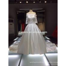 2015 elegante impreso en todo el mundo TiAmero vestido de novia