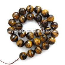 18MM facetado tigereye redondo Beads