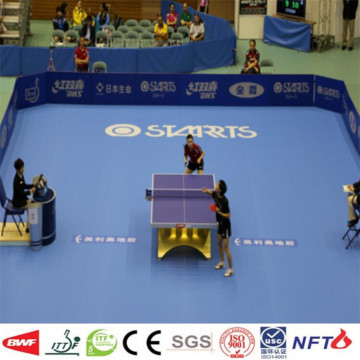 Manufacture pvc tapis de tennis de table