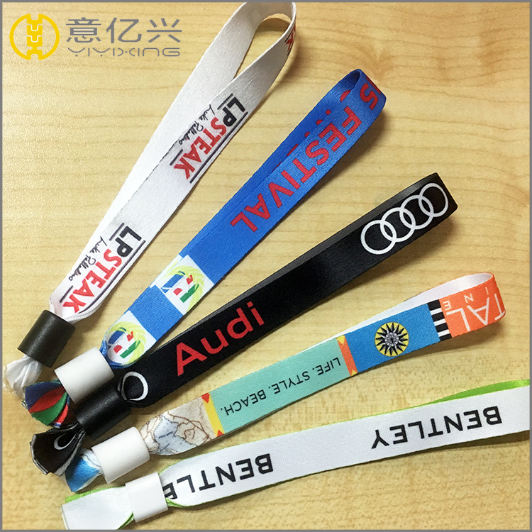 Concert admission identify disposable short wrist lanyard