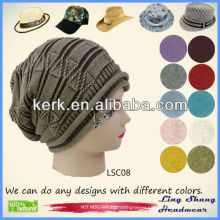 LSC08 Ningbo Lingshang 100% Cotton Hat in Fashion Winter beret hat
