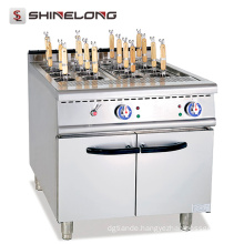 Fast food restaurant use electric with cabinet 12 baskets pasta cooker price for sale