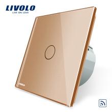 Interrupteur à distance tactile C701R-13 de luxe de panneau de verre de cristal standard de l'UE de Livolo