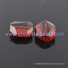 Red Stone Shape Crystal Glass Beads In Bulk