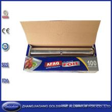 SGS Quality Husehold rollo de papel de aluminio