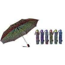 Parapluies automatiques pliables de qualité d'impression d'ornement (YS-3FA22083964R)