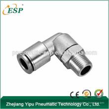 ESP pneumatic push in male female metal brass 3/8 thread elbow air hose swivel fittings